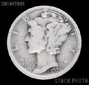 1925 Mercury Silver Dime 1925 Mercury Dime Circ Coin G 4 or Better