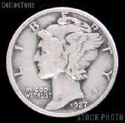 1927 Mercury Silver Dime 1927 Mercury Dime Circ Coin G 4 or Better