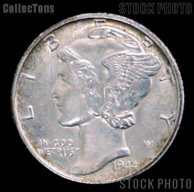 1944 Mercury Silver Dime 1944 Mercury Dime Circ Coin G 4 or Better