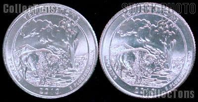 2010 P & D Wyoming Yellowstone National Park Quarters GEM BU America the Beautiful