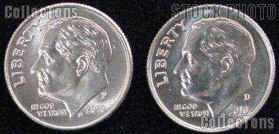 2010 P & D Roosevelt Dime GEM BU 2010 Dimes Perfect for Album