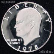 1978-S Eisenhower Dollar Clad GEM Proof 1978 Ike Dollar Proof