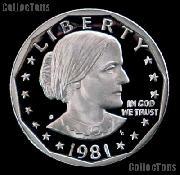 1981-S  Susan B Anthony Dollar Type 2 Gem PROOF 1981 SBA Dollar Proof