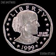 1999-P Susan B Anthony Dollar Gem PROOF 1999 SBA Dollar Proof