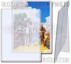 Photo Sleeves 5x7 w/ Stands by BCW 10 Pack 5 x 7 Topload Holders with Stands