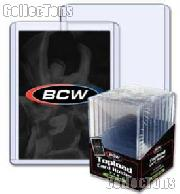 3x4 Sports Card Holders by BCW 10 Pack Thick Card Topload Sleeves 240 Point 7mm