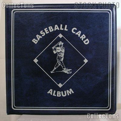 Baseball Card Album by BCW 3 Ring Trading Card Album in Blue