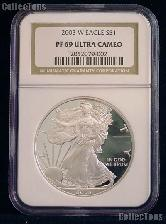 2003-W American Silver Eagle Dollar PROOF in NGC PF 69 ULTRA CAMEO