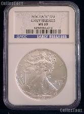 2009 American Silver Eagle Dollar EARLY RELEASES in NGC MS 69
