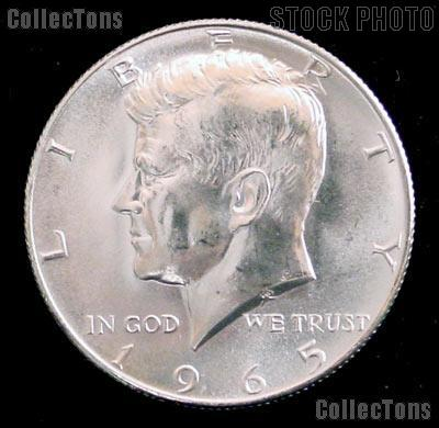 1965 SMS Kennedy Silver Half Dollar GEM BU 1965 Kennedy Half Dollar from SMS