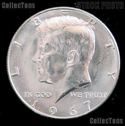 1967 SMS Kennedy Silver Half Dollar GEM BU 1967 Kennedy Half Dollar from SMS