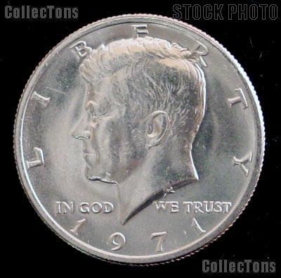 1971 Kennedy Half Dollar GEM BU 1971 Kennedy Half