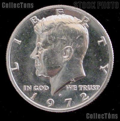 1972-D Kennedy Half Dollar GEM BU 1972 Kennedy Half