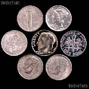 American Coins by Date - U.S. Dimes