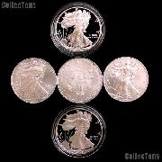 American Coins by Date - Silver Eagles