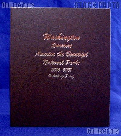 Dansco National Parks Quarter Album P, D, Proof, & Silver Proof 2016 -2021 #8147
