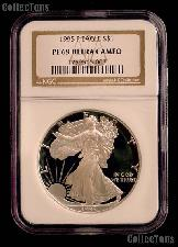 1995-P American Silver Eagle Dollar PROOF in NGC PF 69 ULTRA CAMEO