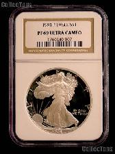 1994-P American Silver Eagle Dollar PROOF in NGC PF 69 ULTRA CAMEO