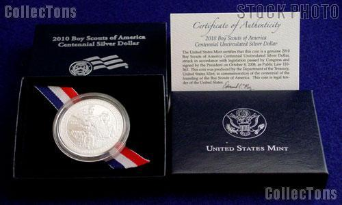 2010-P Boy Scout Uncirculated Silver Dollar in OGP