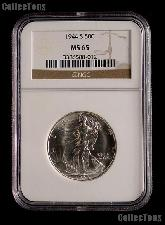 1944-S Walking Liberty Silver Half Dollar in NGC MS 65