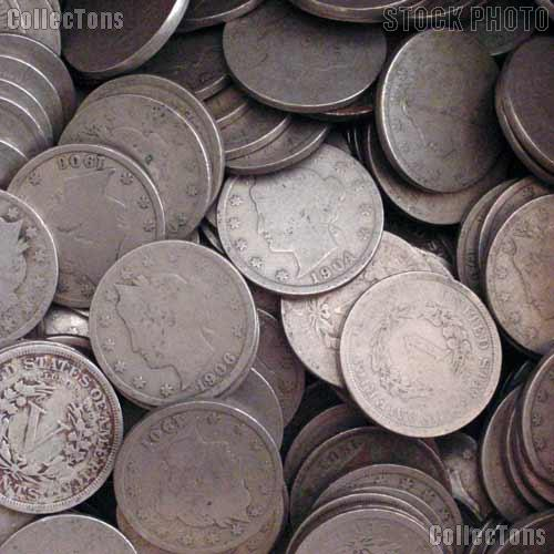 Liberty Head V Nickel Rolls - 40 Coins