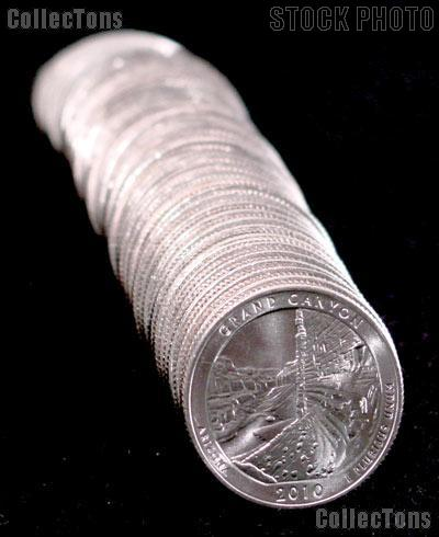 2010-D Arizona Grand Canyon National Park Quarters Bank Wrapped Roll 40 Coins GEM BU