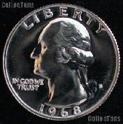 1968-S Washington Quarter PROOF Coin 1968 Quarter