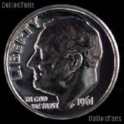 1961 Roosevelt Dime SILVER PROOF 1961 Dime Silver Coin