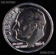 1964 Roosevelt Dime SILVER PROOF 1964 Dime Silver Coin