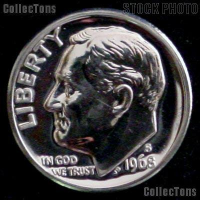 1968 S Roosevelt Proof Dime