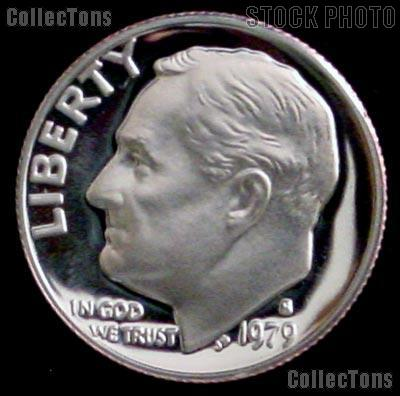 1979-S Roosevelt Dime  Type 2 PROOF Clear S Coin