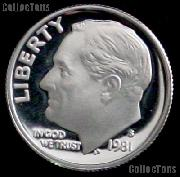 1981-S Roosevelt Dime PROOF Coin 1981 Dime
