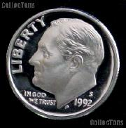1992-S Roosevelt Dime SILVER PROOF 1992 Dime Silver Coin