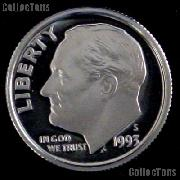 1993-S Roosevelt Dime SILVER PROOF 1993 Dime Silver Coin