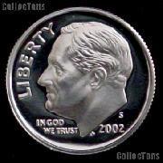 2002-S Roosevelt Dime SILVER PROOF 2002 Dime Silver Coin