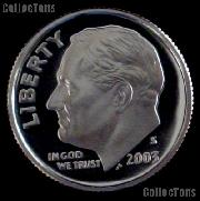 2003-S Roosevelt Dime SILVER PROOF 2003 Dime Silver Coin