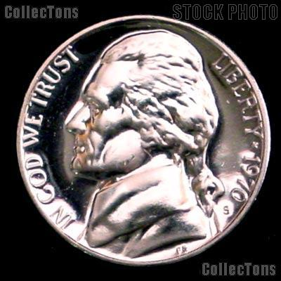 1970-S Jefferson Nickel PROOF Coin 1970 Proof Nickel Coin