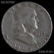 1952 Franklin Half Dollar Silver Coin 1952 Half Dollar Coin