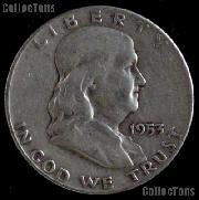 1953-S Franklin Half Dollar Silver Coin 1953 Half Dollar Coin