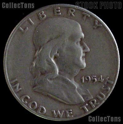 1954-S Franklin Half Dollar Silver Coin 1954 Half Dollar Coin