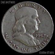 1957 Franklin Half Dollar Silver Coin 1957 Half Dollar Coin