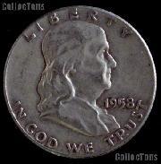 1958-D Franklin Half Dollar Silver Coin 1958 Half Dollar Coin