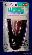 Heavy Duty Stapler Flat Clinch Hand Held Palm Size by MAX for No.11 Staples