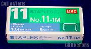 Flat Clinch Staples Mini Box of 1000 by MAX No.11