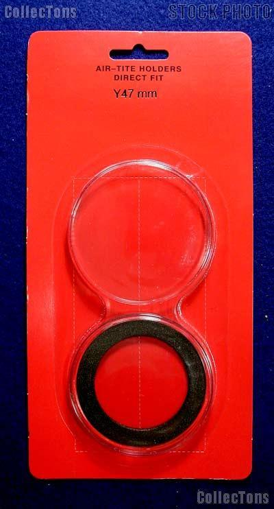 "Air-Tite Coin Capsule Direct Fit ""Y47 mm"" Black Ring Coin Holder for 47mm Coins, Rounds, & Tokens"