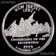 1999-S New Jersey State Quarter PROOF Coin 1999 Quarter