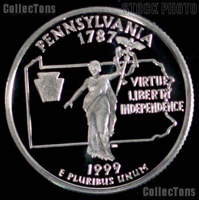 1999-S Pennsylvania State Quarter PROOF Coin 1999 Quarter