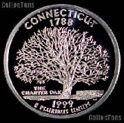 1999-S Connecticut State Quarter SILVER PROOF 1999 Silver Quarter