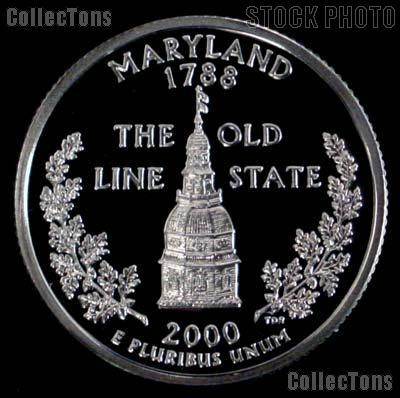 2000-S Maryland State Quarter PROOF Coin 2000 Quarter
