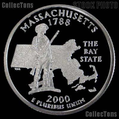 2000-S Massachusetts State Quarter PROOF Coin 2000 Quarter